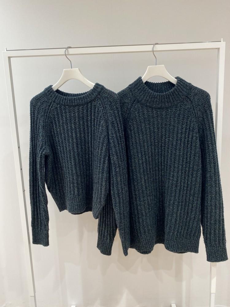 ユニクロユーローゲージ クルーネックセーターとモックネックセーターを比較