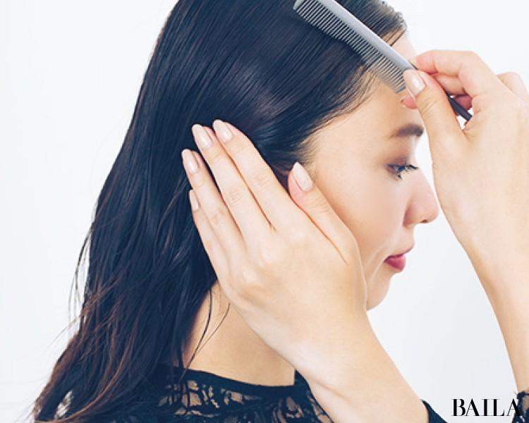 【ビジューヘアピンMIXづけ】でひとつ結びをおよばれヘアスタイルに!<動画あり>_5