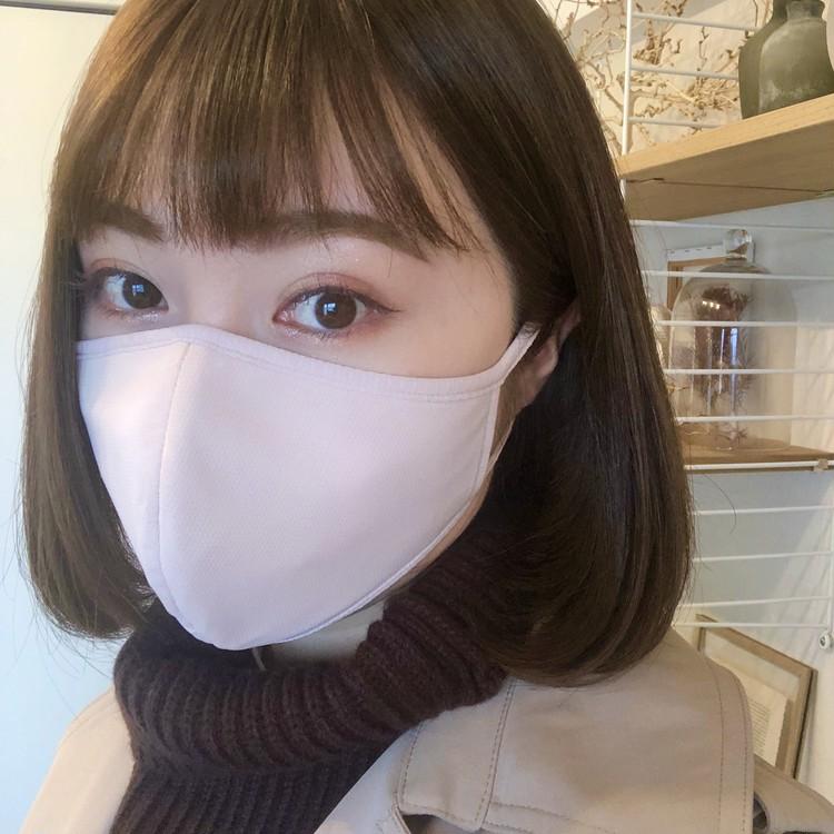 【UNIQLO(ユニクロ)】エアリズムマスクの新色『ベージュ・グレー』着用レビュー_4