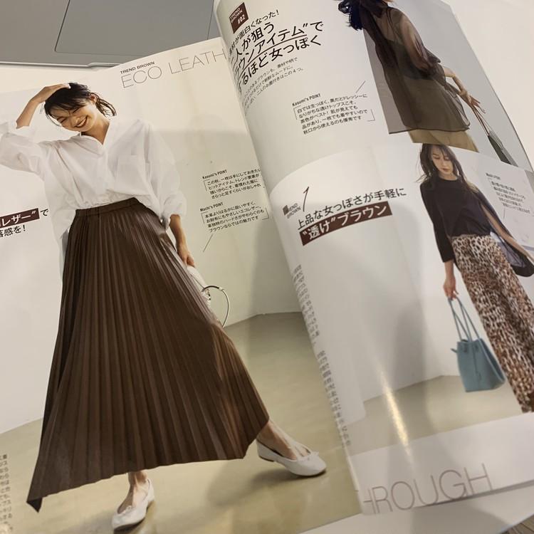 白シャツ×スカート。秋はブラウンが断然おしゃれで女っぽい♡_2