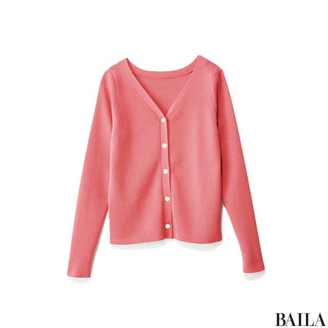 春のきれいめジャケットスタイルは、カラーカーデで華やかに!_2_3