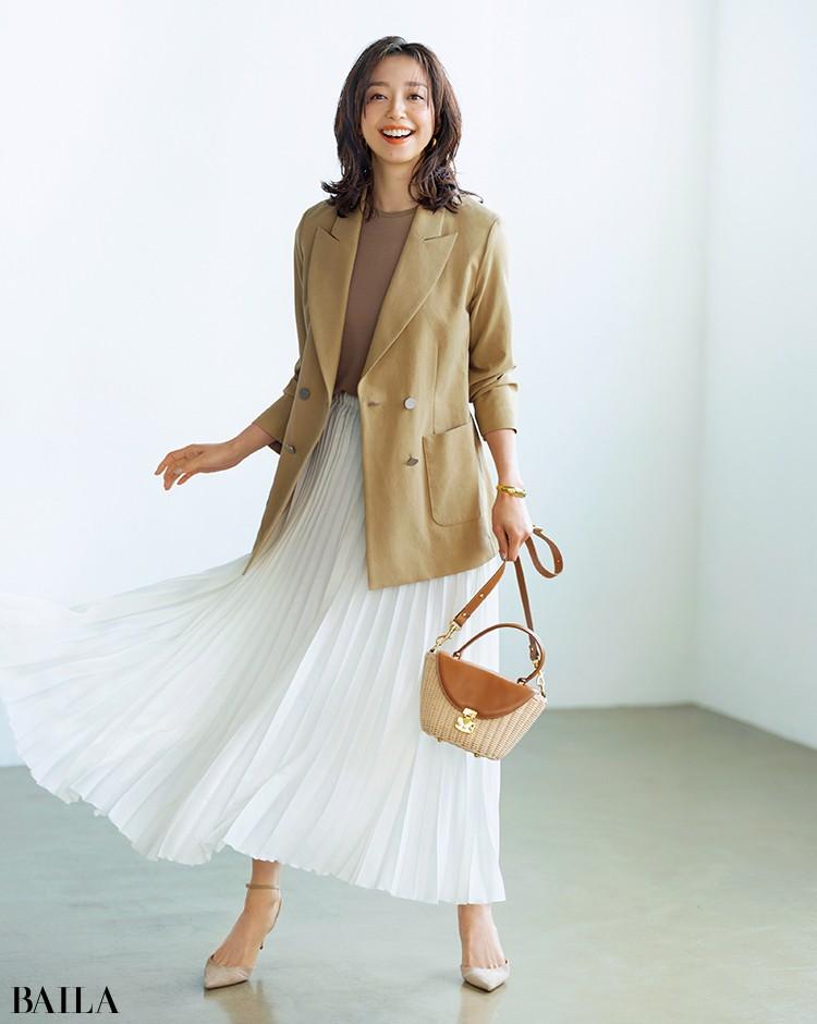 """松島-ジャケット """"揺れる白""""の効果で春に似合う明るさと女っぷりアップ"""