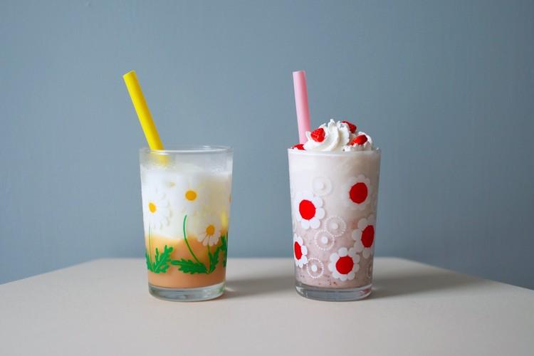 久世福商店の「牛乳と混ぜる いちごミルクの素」と「牛乳と混ぜる バナナミルクの素」の作り方