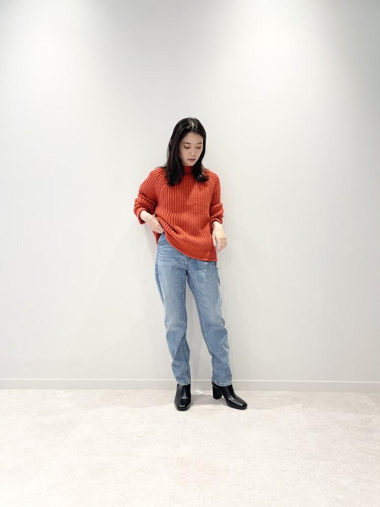 【GU(ジーユー)】チャンキーニットハイネックセーター ¥1990