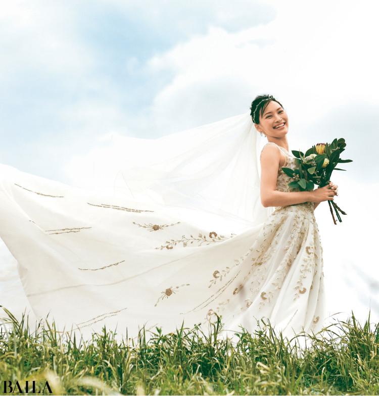《写真に映える野外ウエディング》ドレス(オーダー価格)¥1966800/マグノリア・ホワイト表参道(ガリア・ラハヴ)