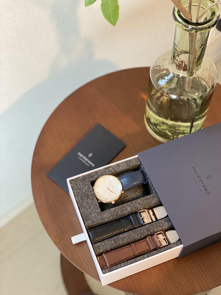 北欧スタイルのミニマルな腕時計_1