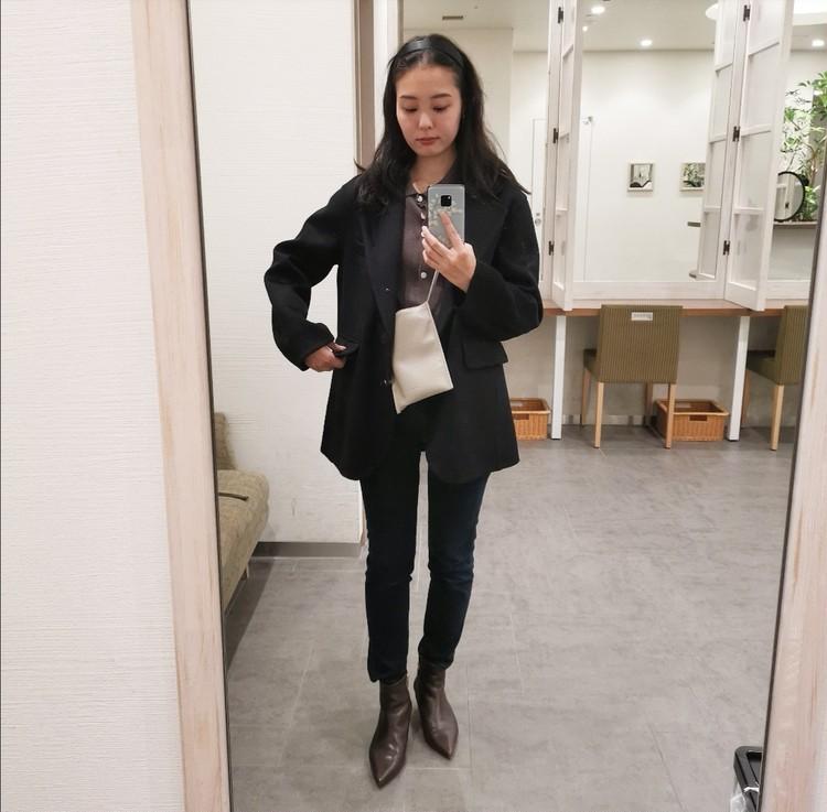ユニクロ +J カシミヤブレンドオーバーサイズジャケット