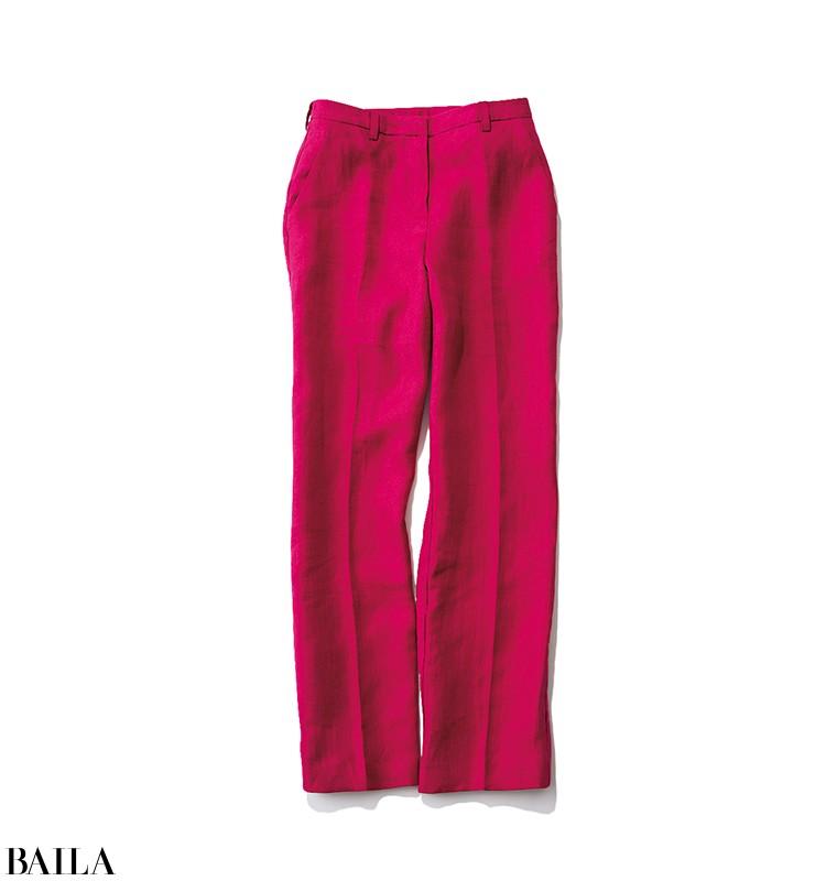 料理教室に行く日は、ベリー色パンツの美スタイルコーデ【2020/3/23のコーデ】_2_1