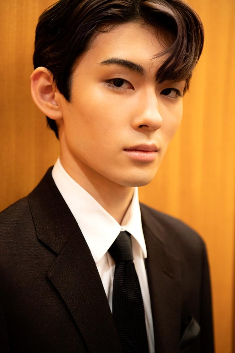 若手歌舞伎俳優 市川染五郎のアップ写真