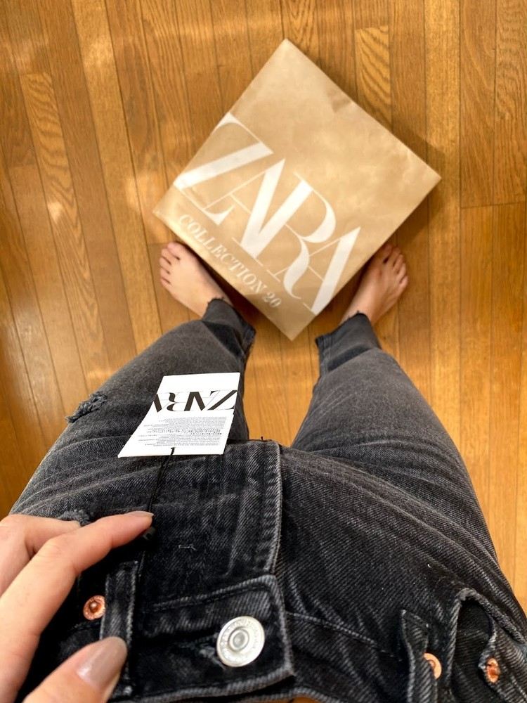 【最近の購入品】ZARAのブラックデニムを買いました!_3
