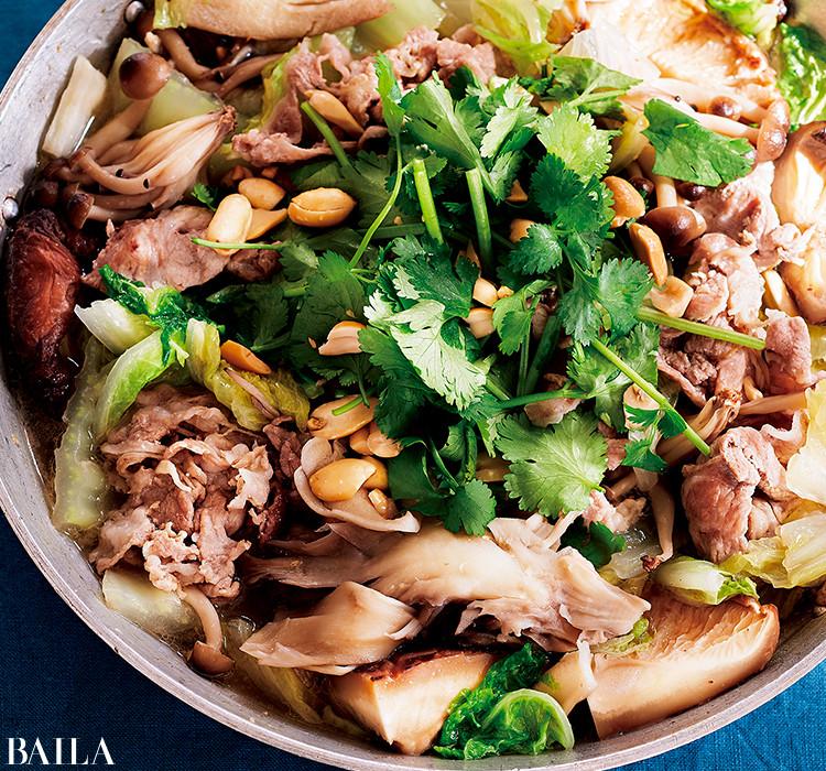 白菜と豚肉のナンプラー煮込み