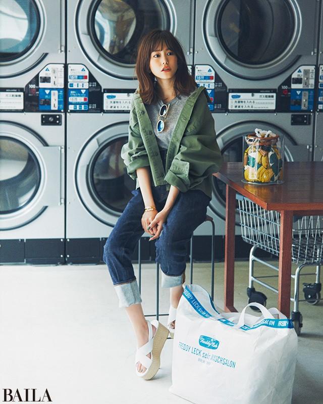 ハイライズデニムなら、Tシャツスタイルも女っぽく♡【2018/6/16のコーデ】_1