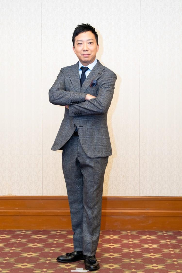 市川猿之助さんの吉例顔見世大歌舞伎の記者会見での姿