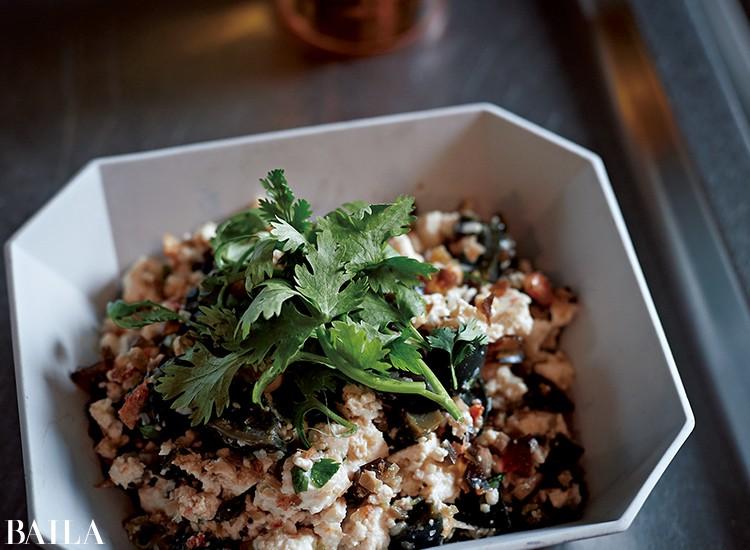 ピータンザーサイ豆腐