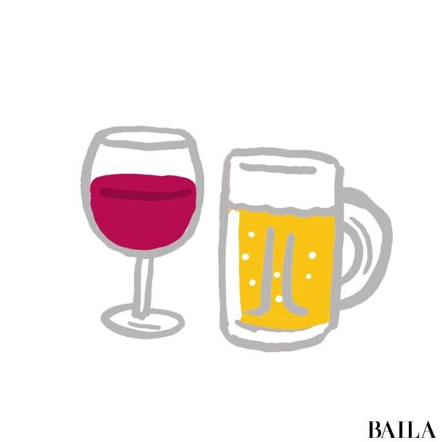 ダイエット中のお酒のとり方