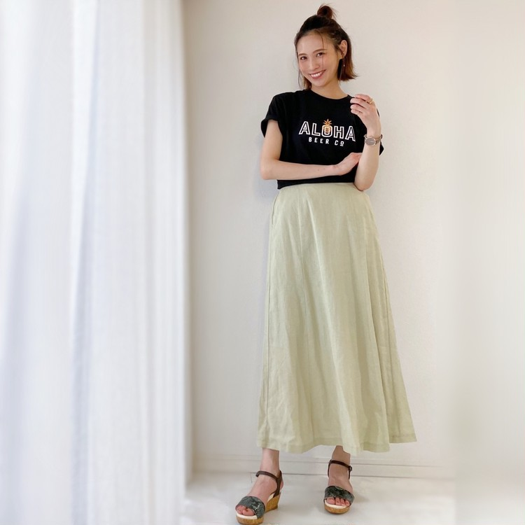 夏の黒TシャツはユニクロUT!ZARAとGUで着回しコーデ!_9