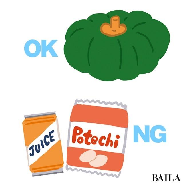 OKな糖質、NGな糖質を覚える!