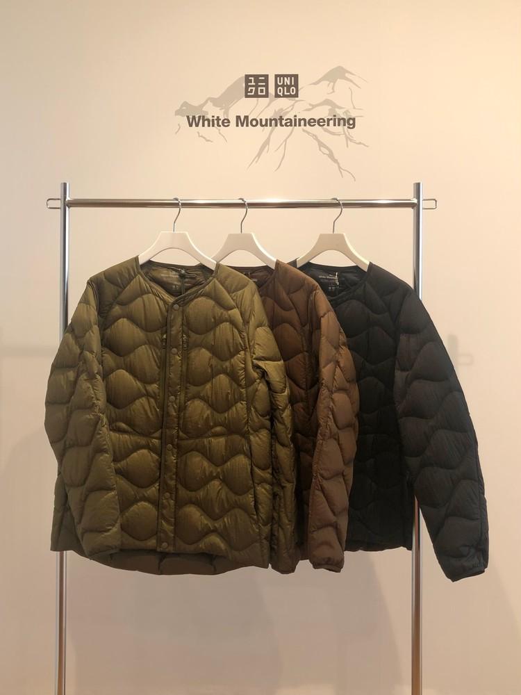ユニクロコラボホワイトマウンテニアリングのウルトラライトダウンオーバーサイズジャケット3色