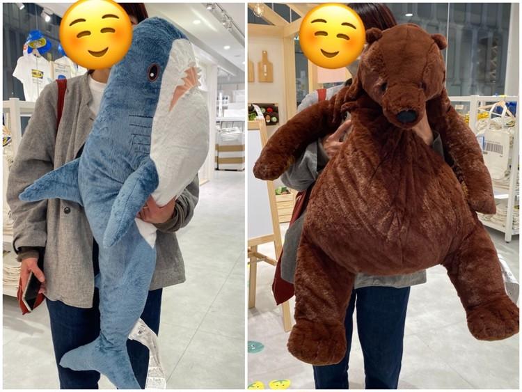 【イケア(IKEA)】渋谷で買って本当によかった! 2021年在宅QOL爆アゲおすすめアイテム サメ クマ ぬいぐるみ