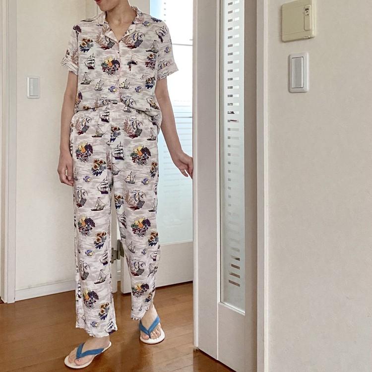 おうち時間のテンションUP↑【ジーユー(GU)】のサテンパジャマ