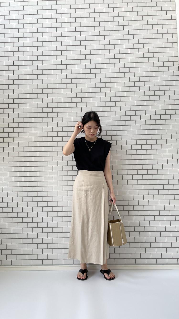 H&MノースリTシャツコーデ3