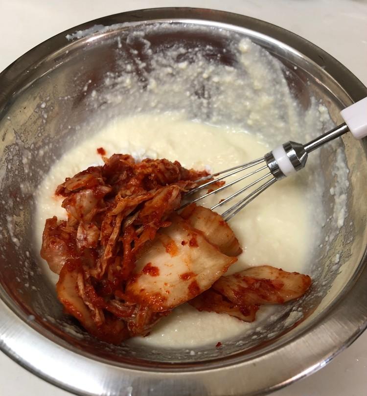 簡単ヘルシー!豆腐と片栗粉で作るチヂミ風_3