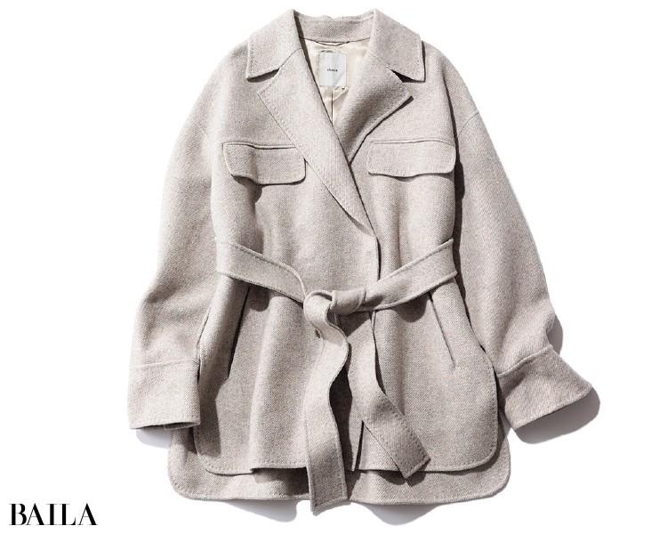 エブールのショート丈コート