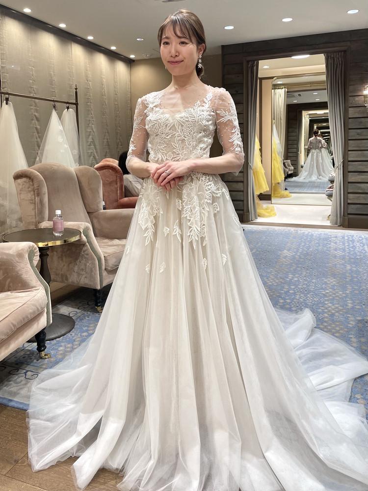 準備再開【パレス花嫁】2021SS新作ドレスを試着しました♡_14