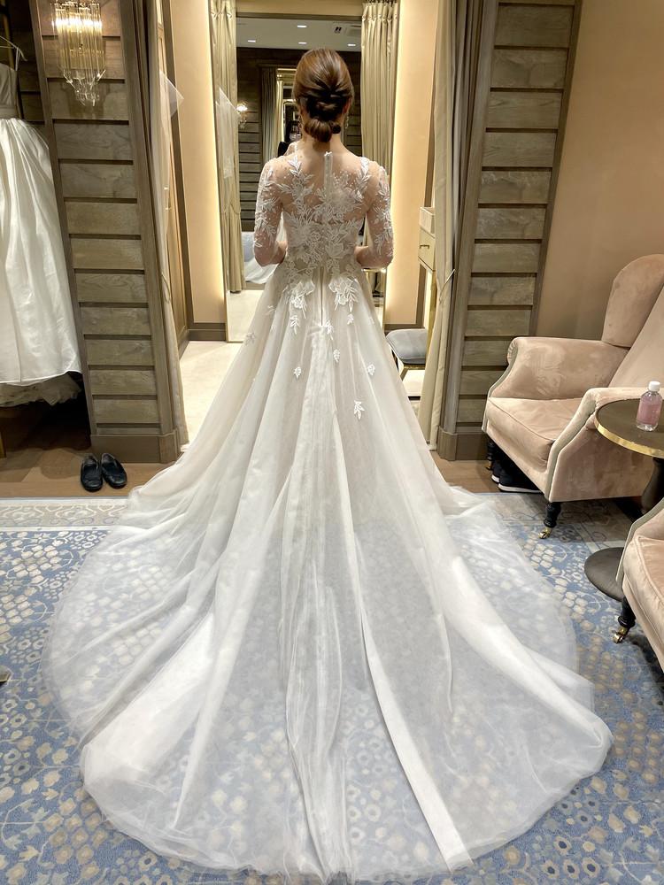 準備再開【パレス花嫁】2021SS新作ドレスを試着しました♡_15