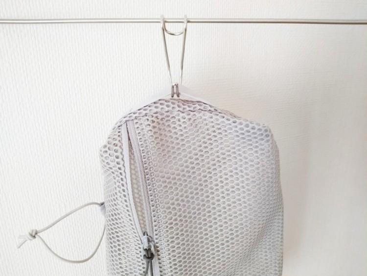 吊した立体メッシュタテに使える仕分けケース