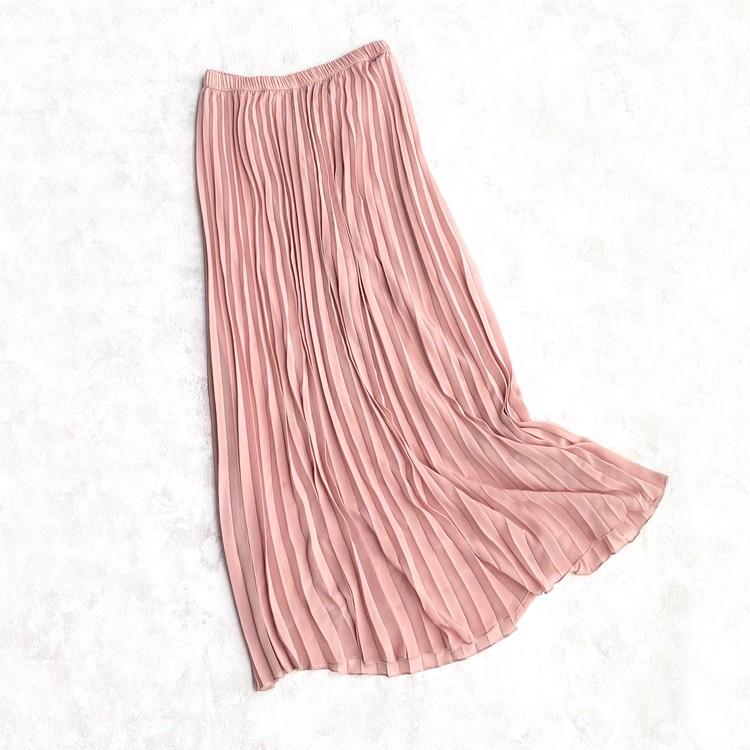 H&Mのプリーツマキシスカート