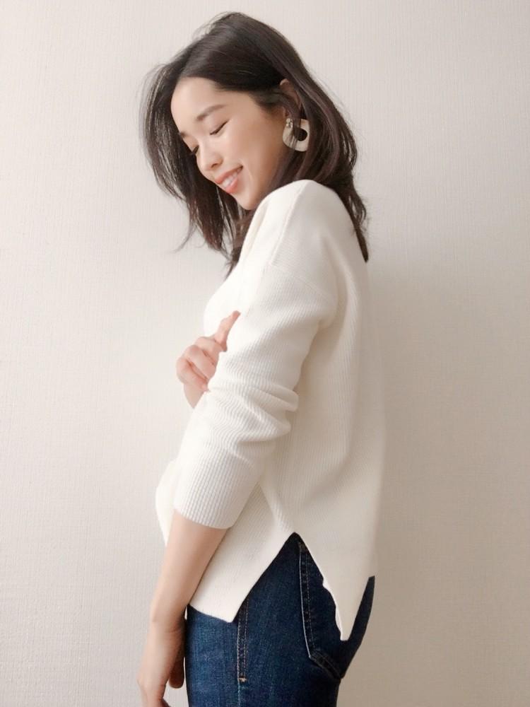 【UNIQLOで一目惚れ♡】カシミヤブレンドのボートネックニット♡_2