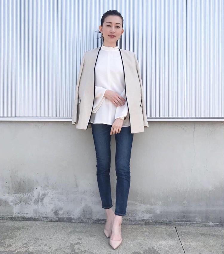 春のジャケット×デニムコーデ_2
