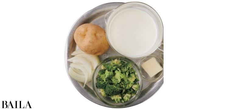 【温野菜レシピ】野菜も牛乳もたっぷり摂れる「おろしじゃがいもとブロッコリーのビシソワーズ風スープ 」_2