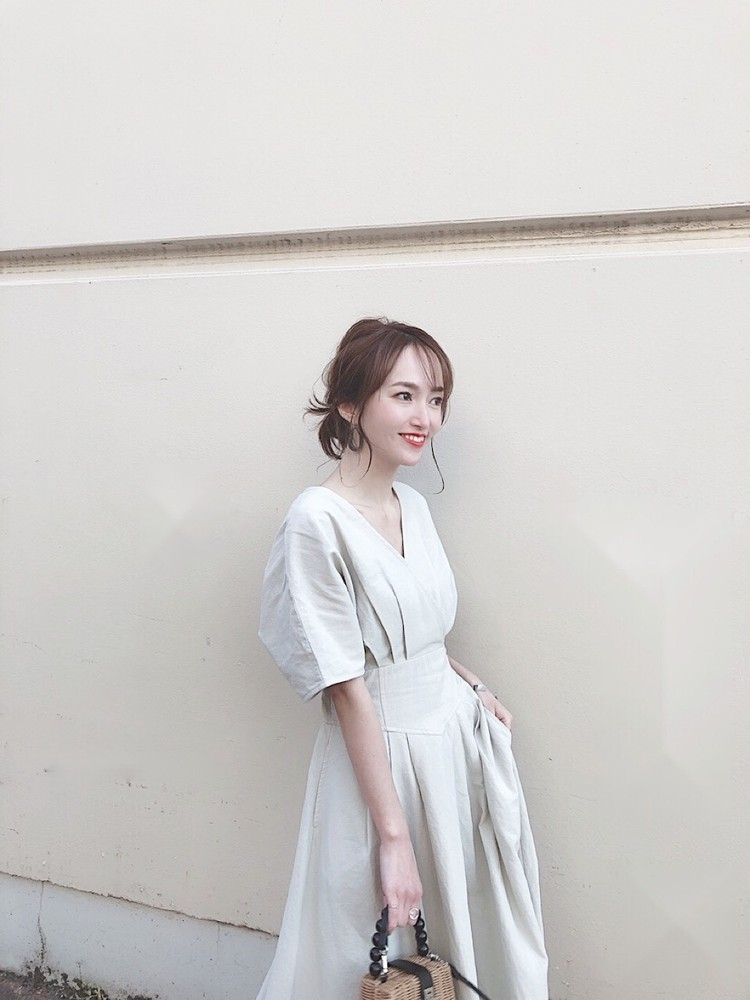 【プチプラ】1枚でこなれリネンワンピース♡_1