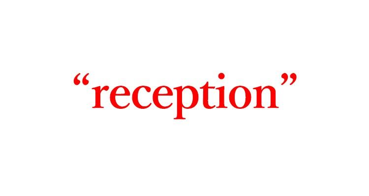 """「ホテルのフロント」は英語で""""reception"""""""
