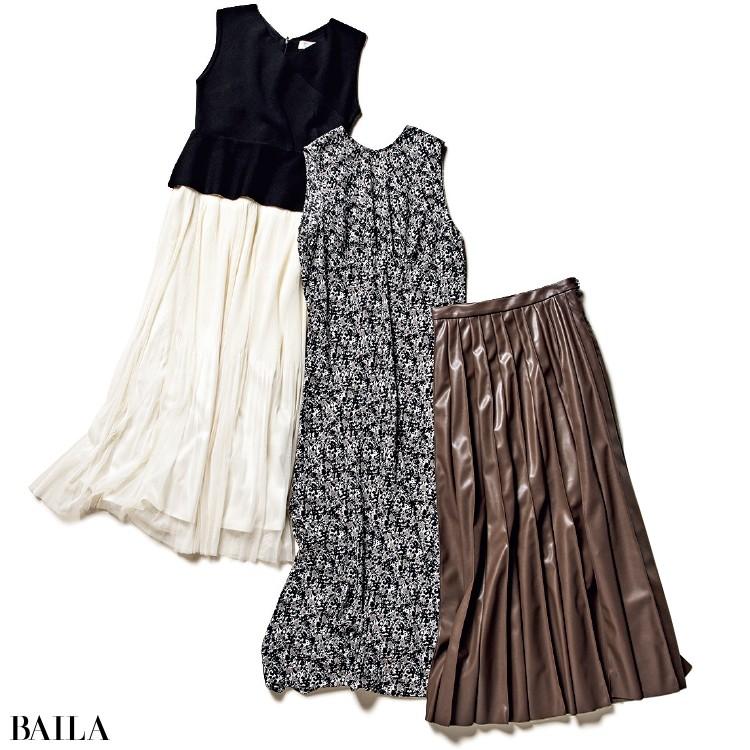 フレイ アイディーのスカート、ミラ オーウェンのワンピース、セルフォードのワンピース