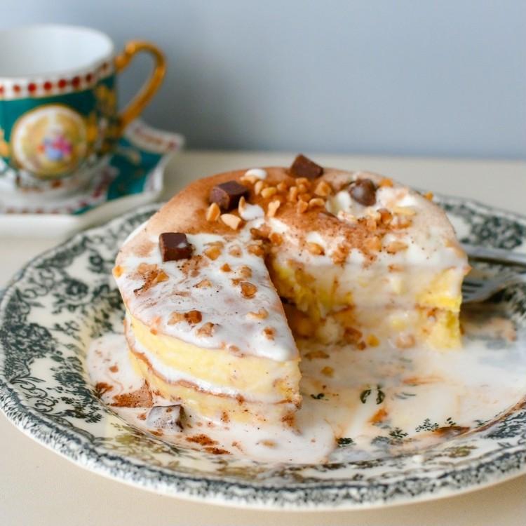 セブンイレブンのおすすめスイーツ「7プレミアム とろーりクリームのパンケーキ(チョコ)」の感想