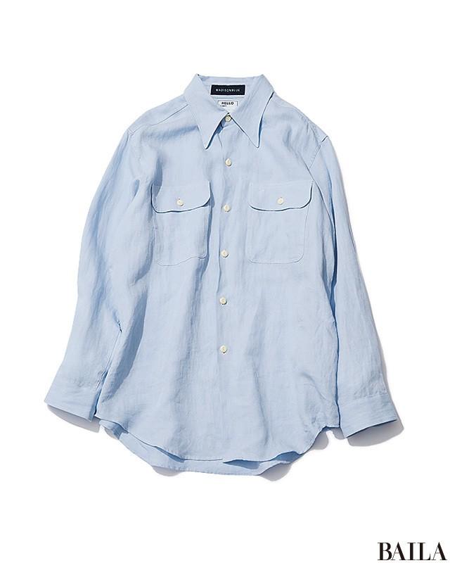 きれい色に合わせてガンガン着回す【白&ブルーのベーシック服】7選_1_4