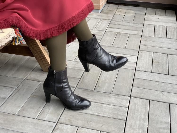 BAILA付録のブラウンタイツと手持ちの靴を合わせてみた!_5