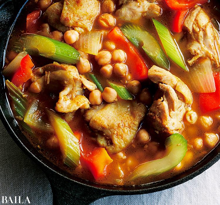 鶏肉と野菜のスパイス煮込み