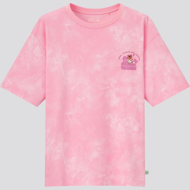 あつまれ どうぶつの森 UT グラフィックTシャツ(半袖・リラックスフィット) ピンク