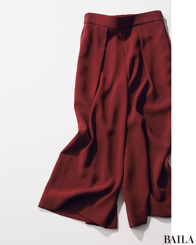 秋を先取り! 8月は赤みブラウンパンツをTシャツで爽やかに仕上げて♪_2_1
