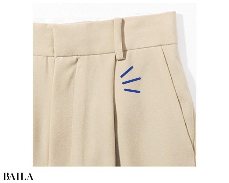 【整形級パンツ】ぽっこりおなかをカバーするなら厚手生地のワイドパンツ!_1