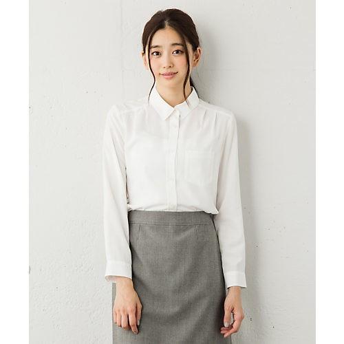 ロング&リーンな通勤スタイルは、白シャツでさらに好感度あげ!_4