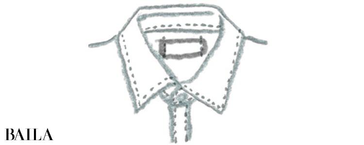 シャツ&ブラウスは 襟元が大事