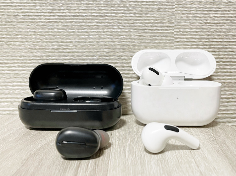 True Wireless Earphone 完全ワイヤレスイヤホンとAir Podsの比較