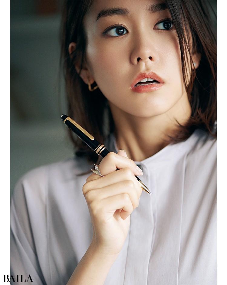 モンブランのボールペンと桐谷美玲
