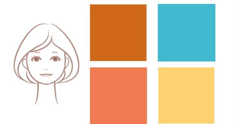 浴衣カラー診断 女顔×イエベ肌