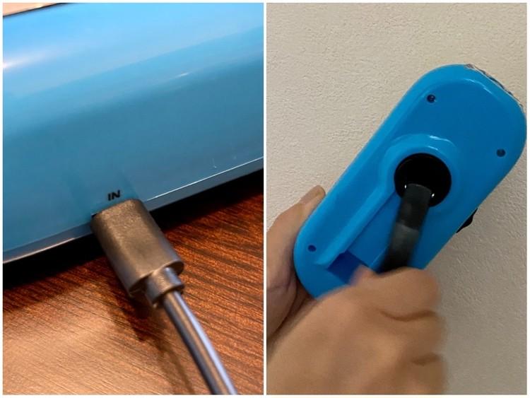 しまむらの防災ベスト 手回し式スマホ充電器 LEDライト 使い方